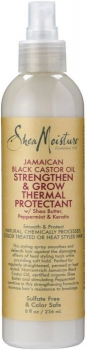 Shea Moisture Jamaican Black Castor Oil Strengthen & Grow Thermal Protectant Shea Butter, Peppermint & Keratin 227ml/8oz.