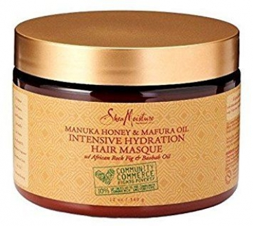 Shea Moisture Manuka Honey & Mafura Oil Intensive Hydration Hair Masque 340g/12oz.